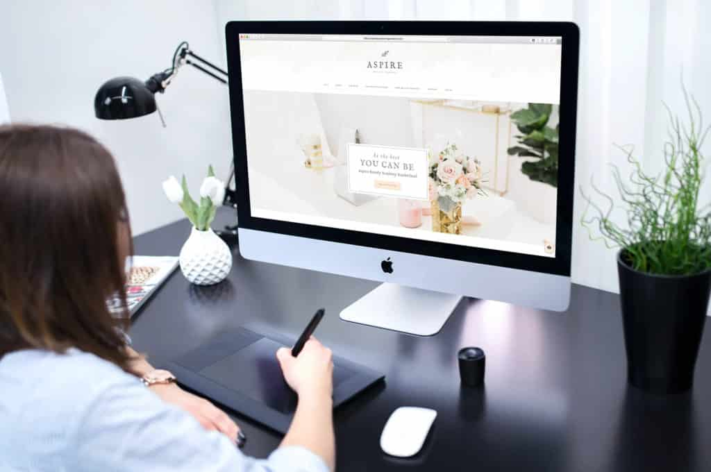 Aspire Beauty Academy, Web Design - Desktop Mockup 2